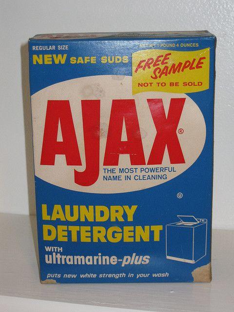 Front Of Vintage Ajax Laundry Detergent Box Vintage Laundry Laundry Detergent Ajax Laundry Detergent