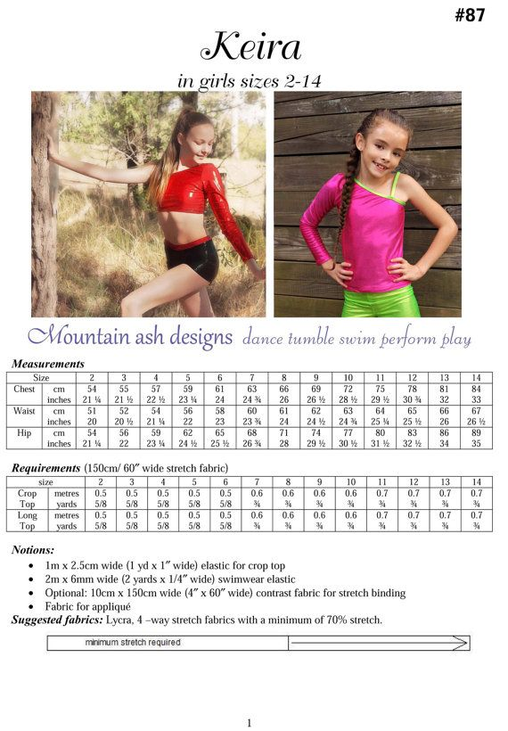 d323d41fa Keira Cheerleading and Dance Tops Pattern in girls by tumblentwirl ...