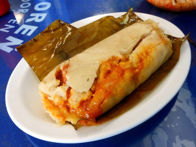 Tamales Salvadoreños Made With Flavored Corn Dough And Filled With