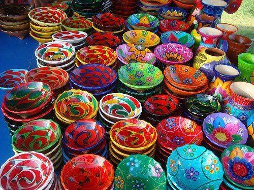 Artesanía Marroquí Cerámca Ceramic Colores Marruecos Artesania