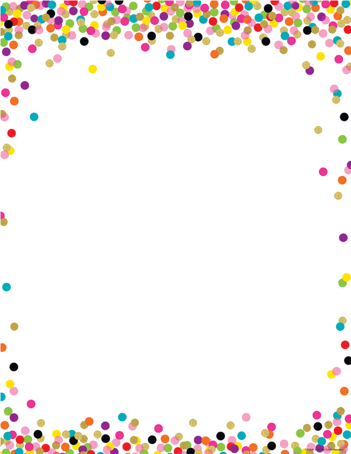 View And Download Hd Confetti Border Png Image For Free The Image Resolution Is 900x900 And With No Backgroud Bordes Y Marcos Marcos Para Texto Manualidades