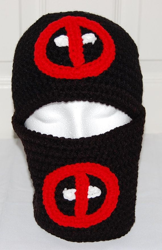 Deadpool Winter Hat & Cowl set in Black Crochet by efficientsense ...