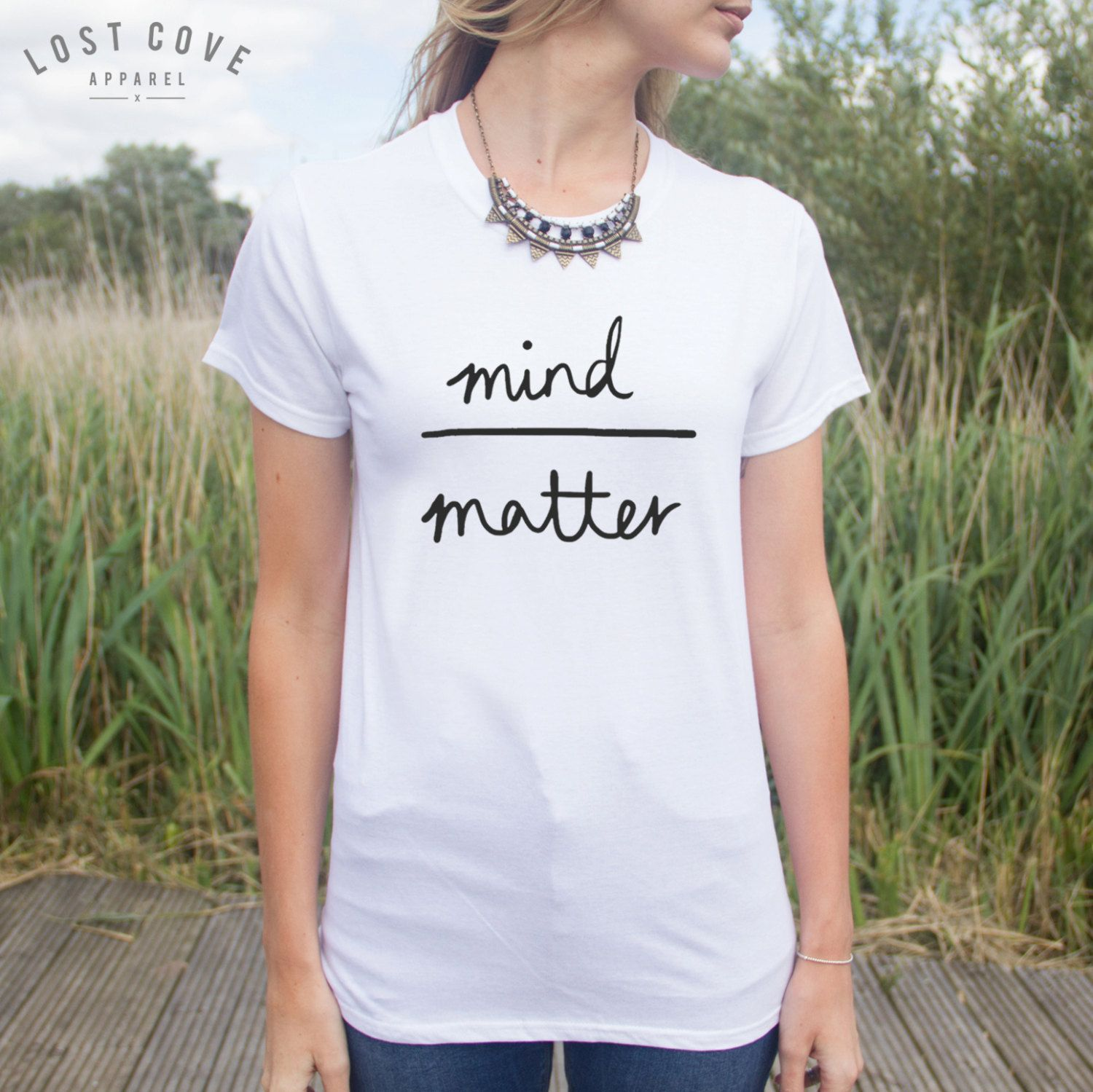 Mind Over Matter T-shirt Top Blogger Hipster Cute Fashion (9.99 GBP) by LostCoveApparel