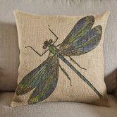 Found it at Wayfair - Dragonfly Burlap Pillow
