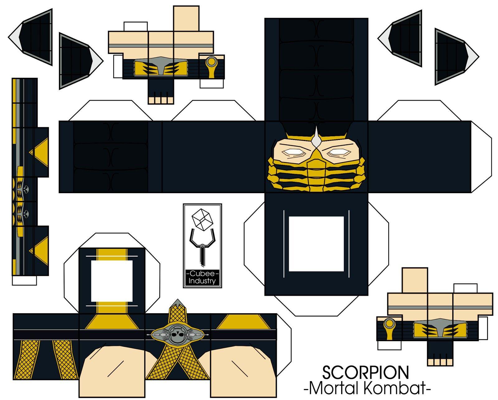 Scorpion Juguetes De Papel 060cc70c689