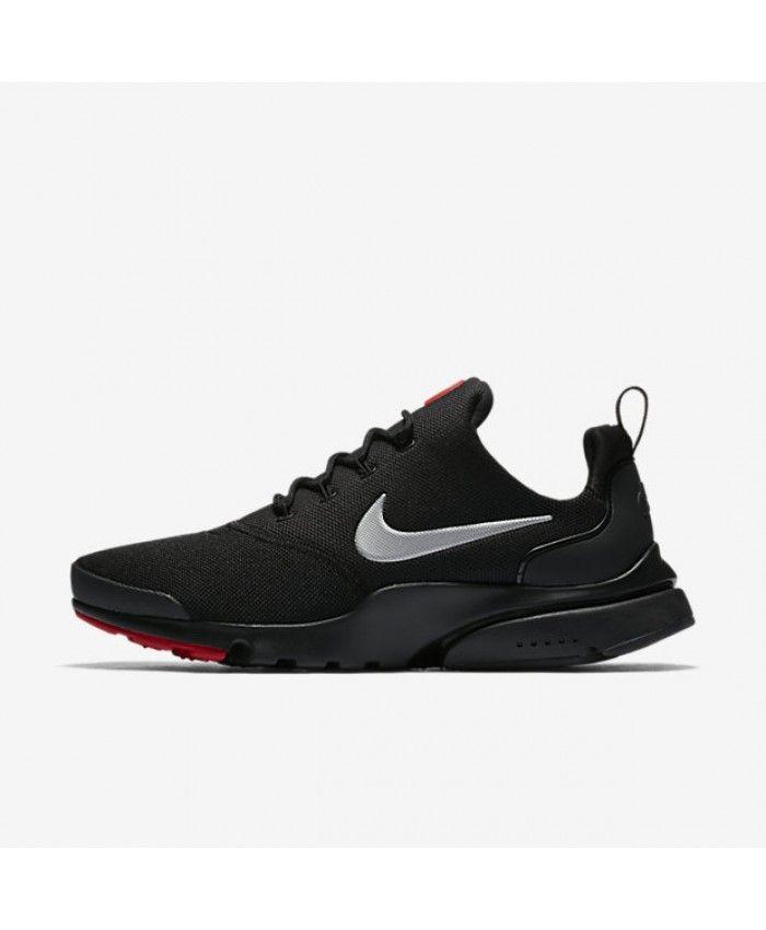 buy popular 13206 8c58c Nike Presto Fly Black University Red Metallic Silver 908019-006