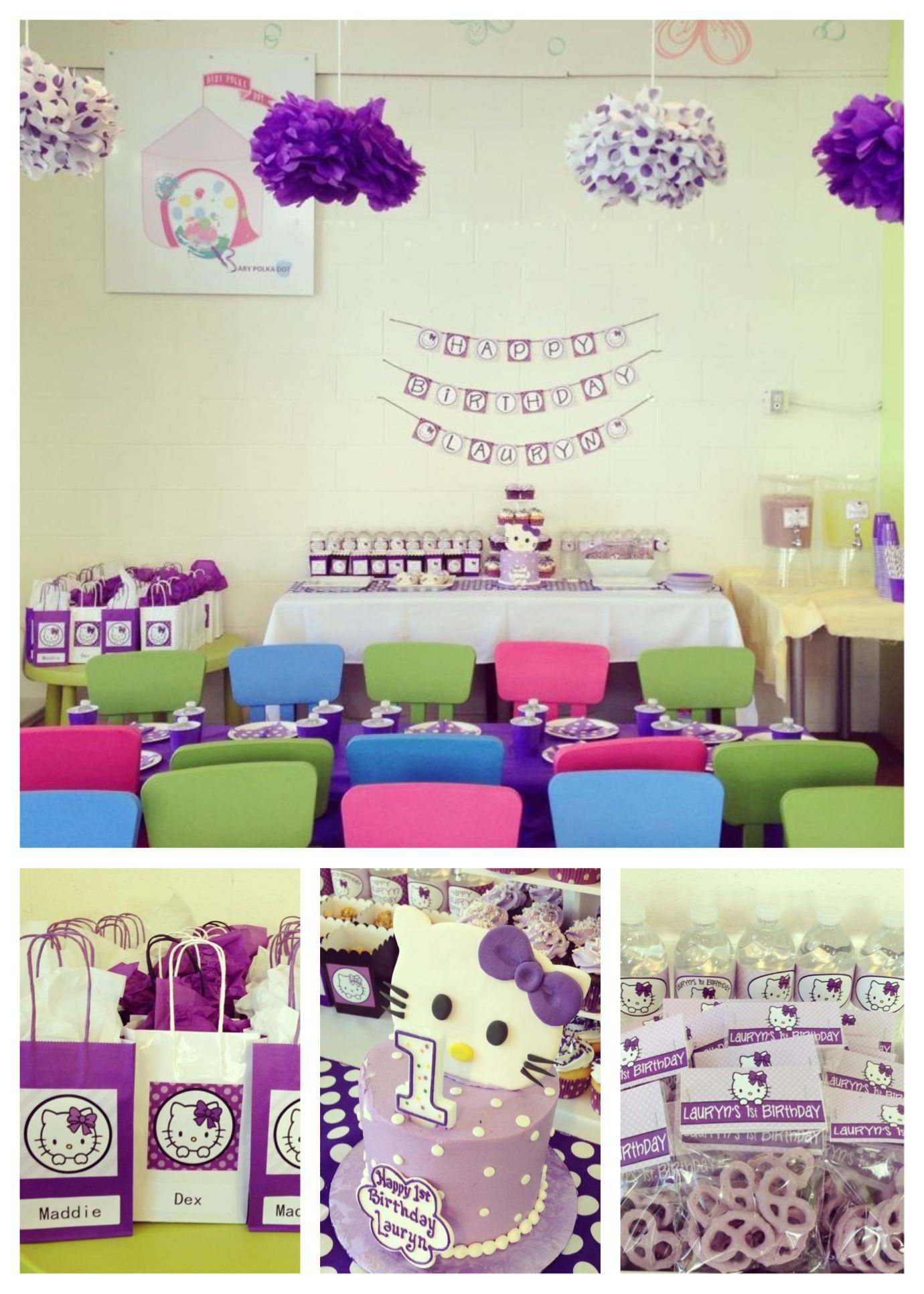 Hello Kitty Purple Polka Dot Party