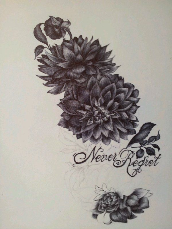 dahlia drawings | add to collection | {magnifique} tatouage
