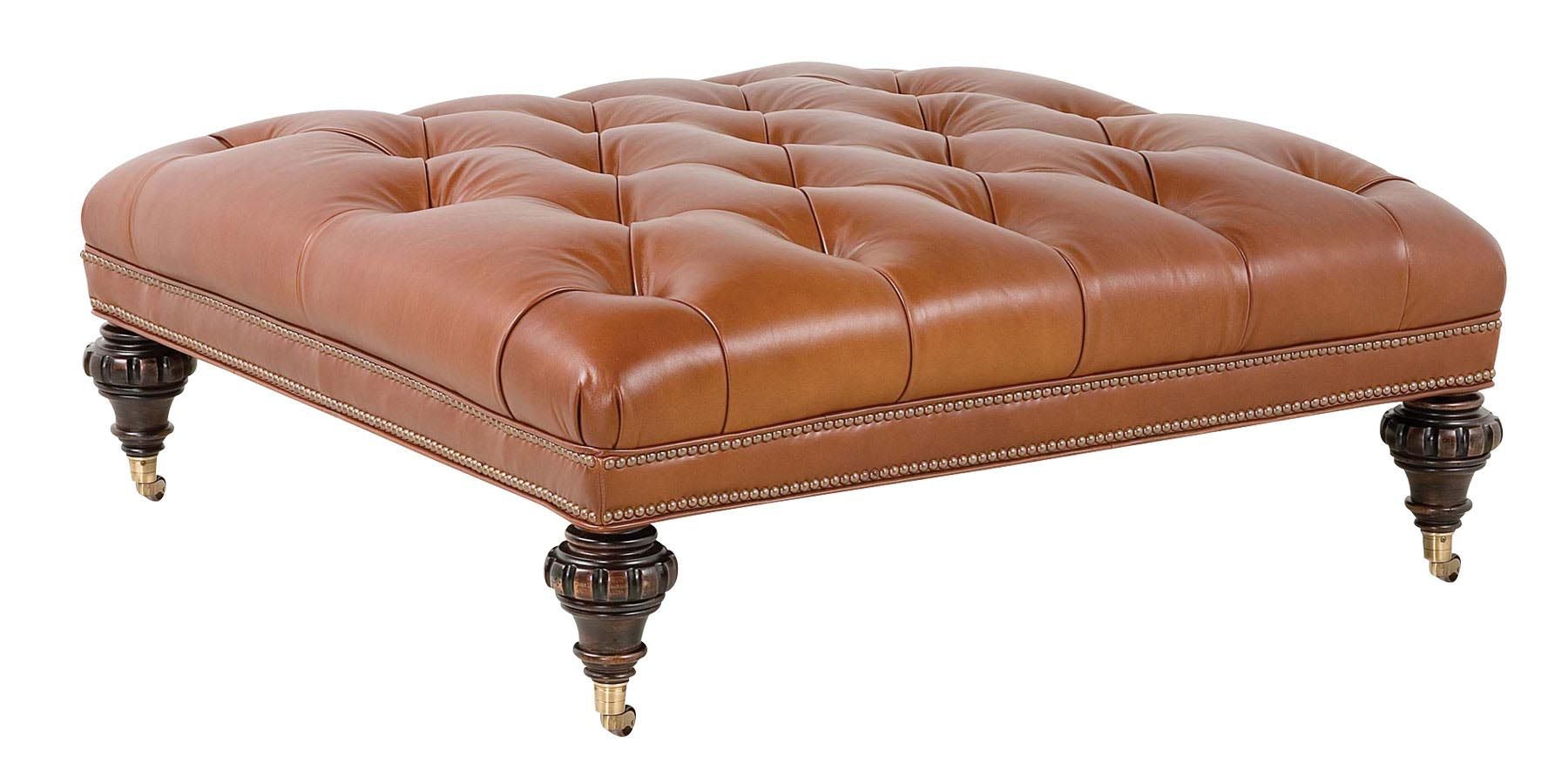 Tufted Leather Ottoman Coffee Table | Coffee Tables | Pinterest