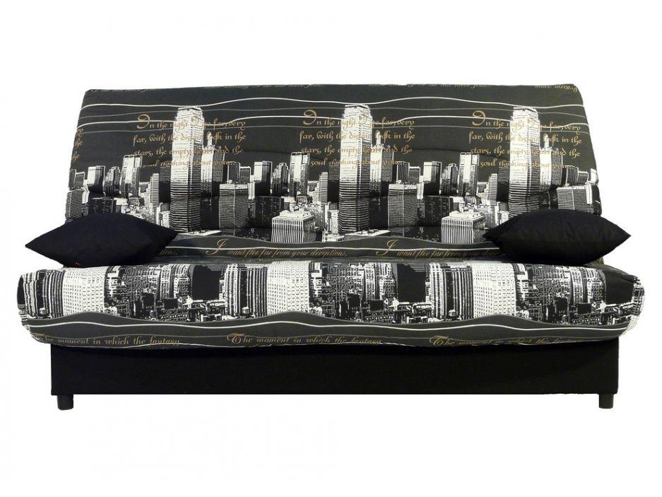 Canape Clic Clac En Tissu Saloon Avec Coffre De Rangement Imprime New York Coffre De Rangement Canape Clic Clac Et Saloon