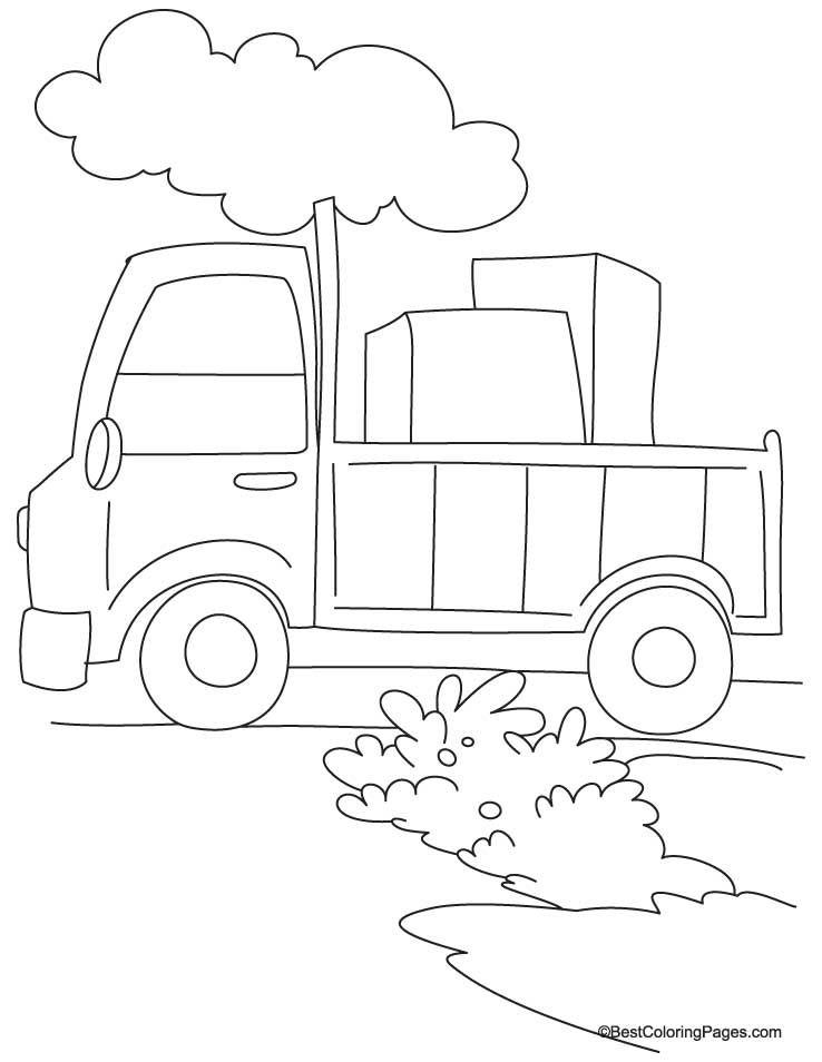 Loaded Truck Coloring Page Download Free Loaded Truck Coloring