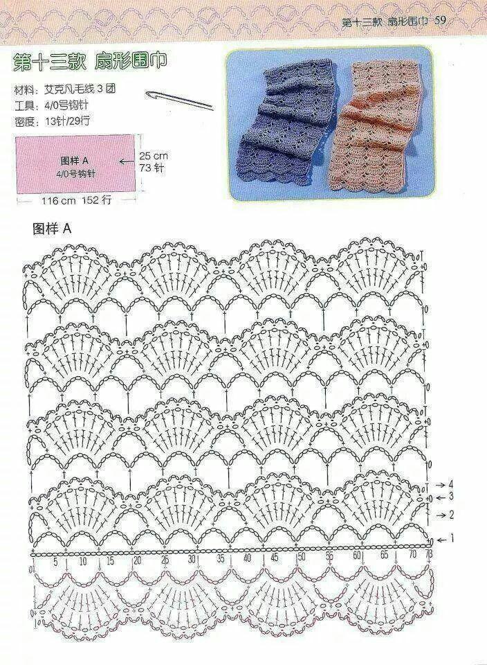 Stitch Scarf Crochet Pattern Crochet Stitches Patterns Crochet Edging Crochet Stitches,Glass Noodles Wide