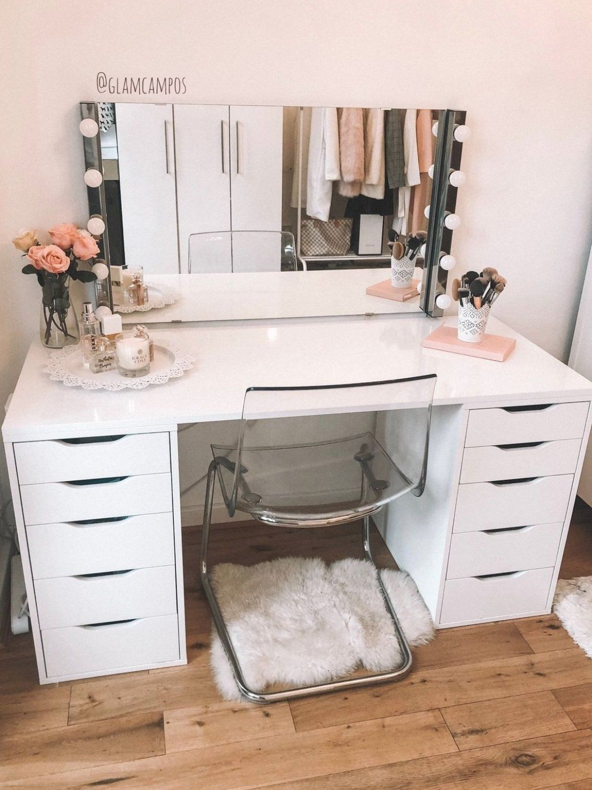 My Makeup Table Alex Drawers from IKEA Separate table top
