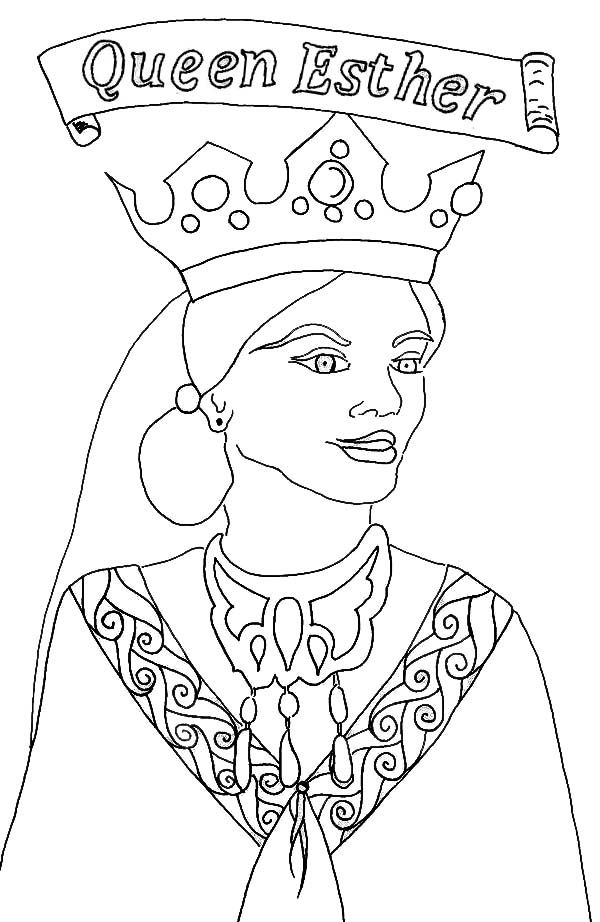 Queen Esther, : Picture of Queen Esther Coloring Page