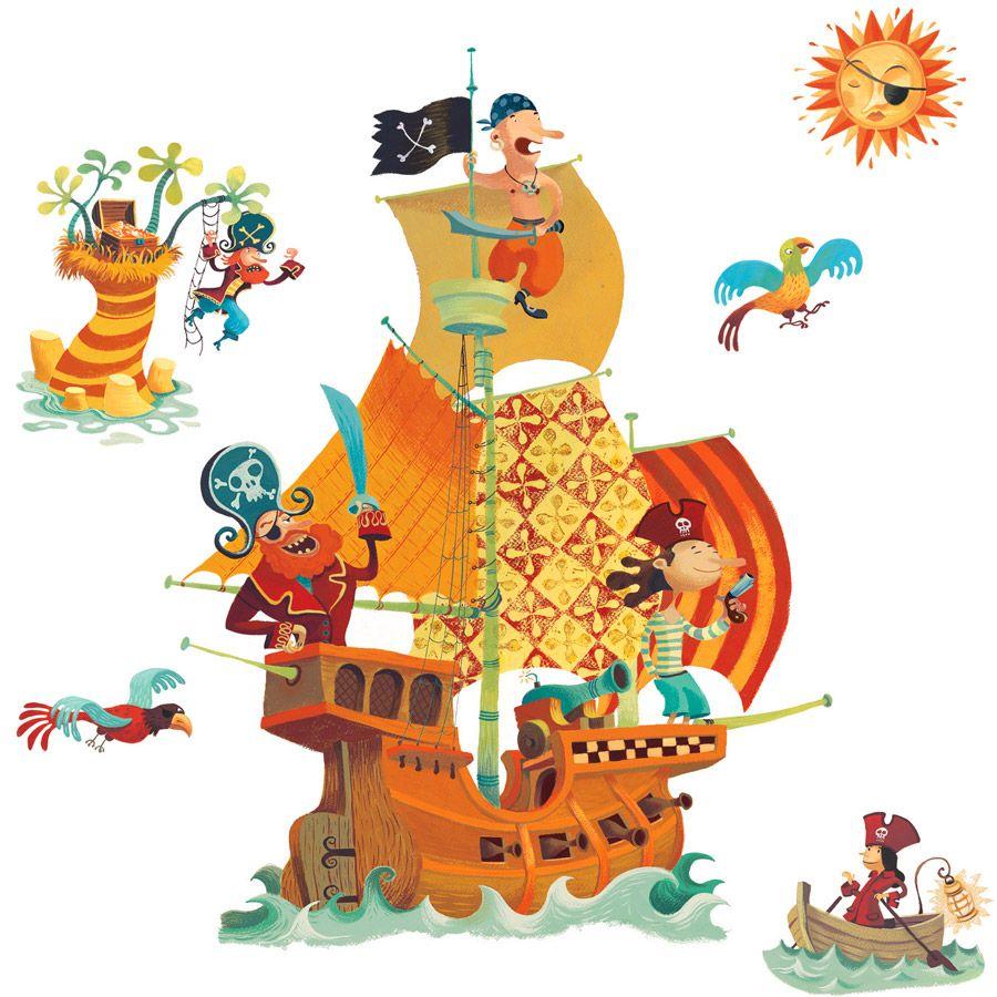 s dessin couleur bateau pirate page 3