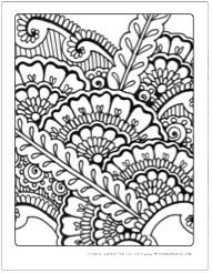 free henna inspired adult coloring pages adult coloring
