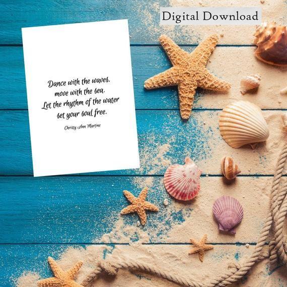 Ocean Print Printable Ocean Art Beach Decor Downloadable