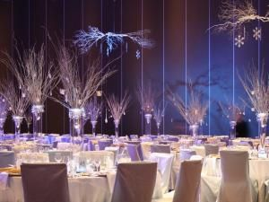 decoration salle mariage theme hiver