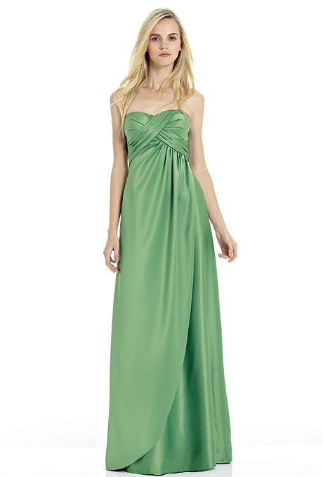 Long, Strapless Bridesmaid Dresses in Every Color | Satin dresses ...