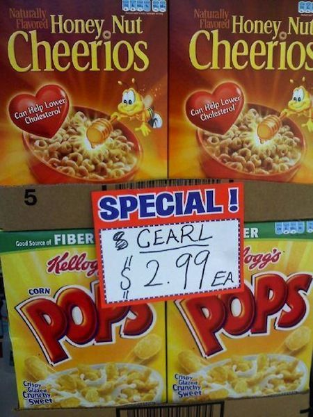 funny photos, funny grocery signs, funny supermarket signs, cearl - grocery words
