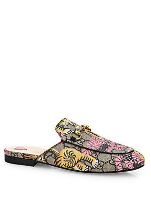 399975b60 Gucci Princetown Tiger Mule Slides - Beige- - Size | Products | Flat ...
