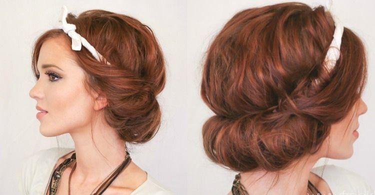 Frisuren mittellang haarband