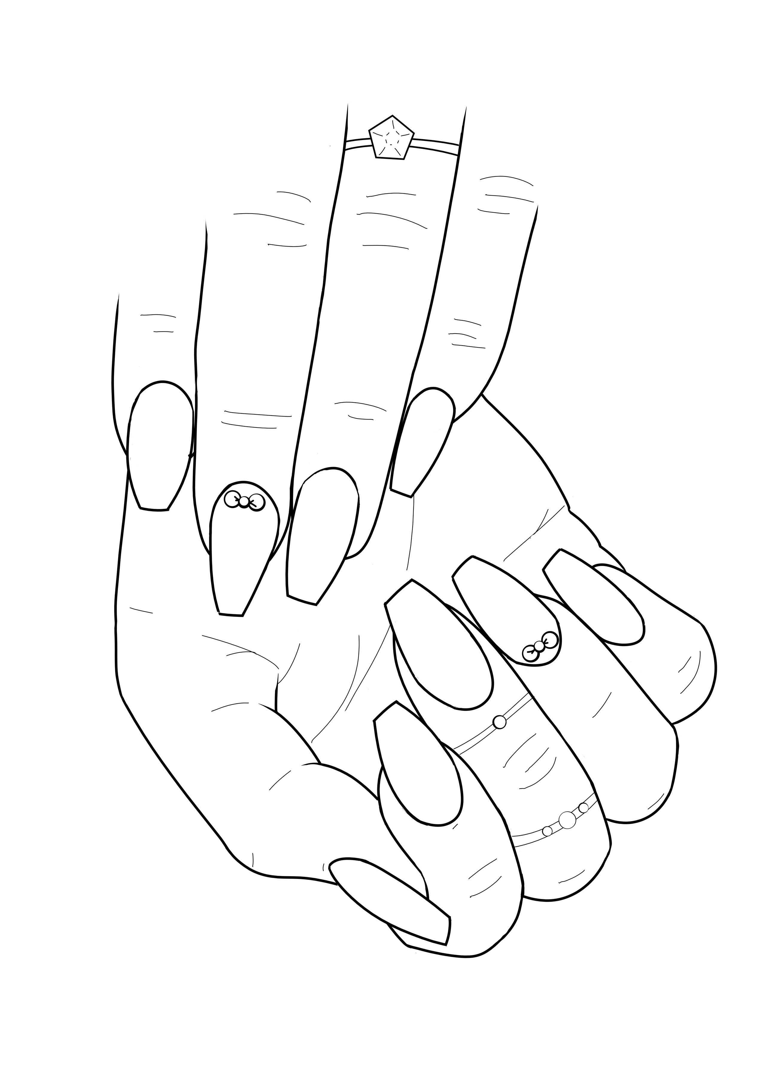 Pin On Nail Art Adult Coloring Book
