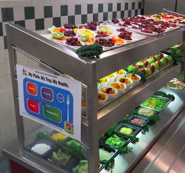 In Jackson-Madison County Schools, Tennessee, Director Susan Johnson is known for getting students engaged in school nutrition ... by growing produce they are going to eat, including the lettuce in this gorgeous photo of their line.