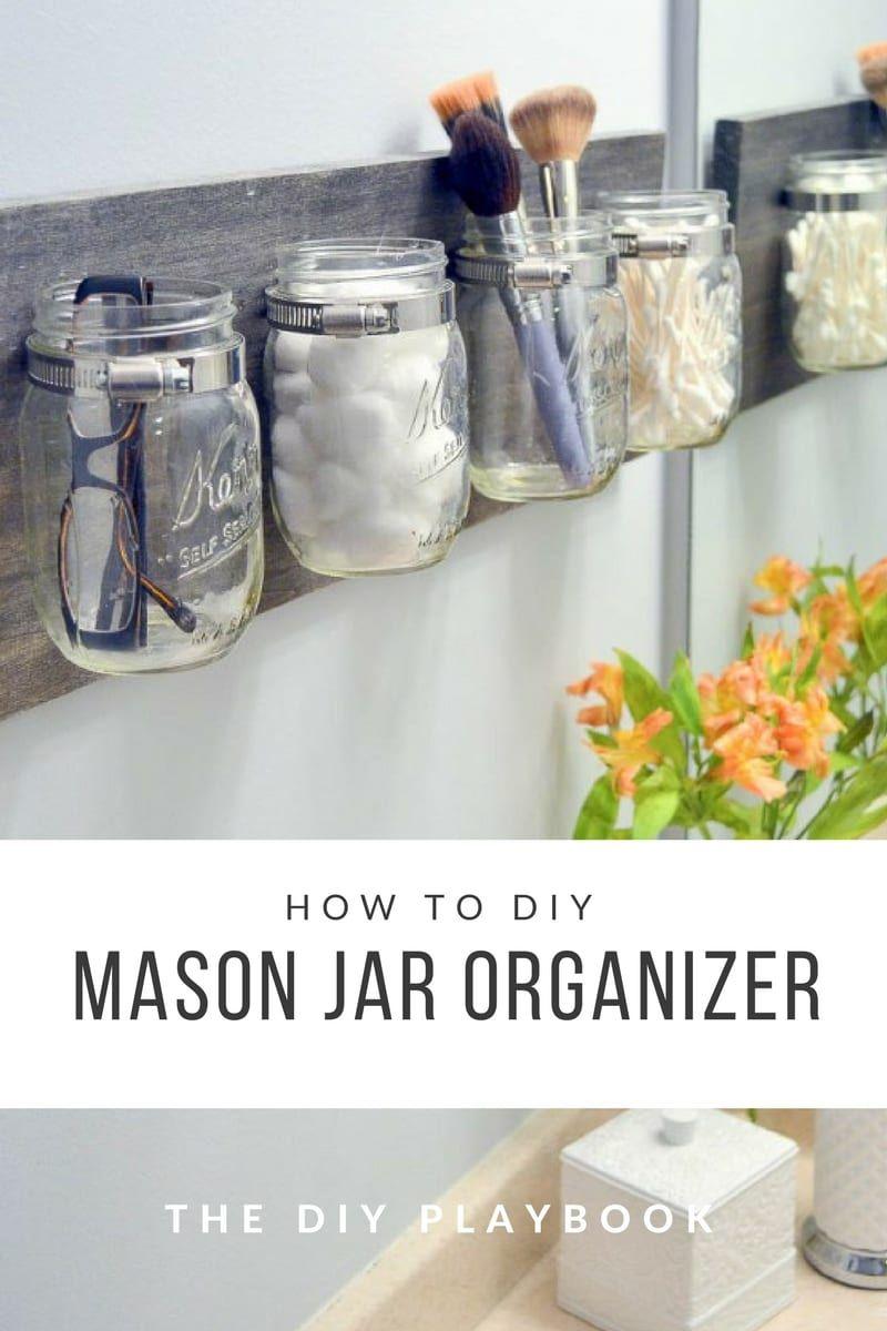 How to Create an Easy DIY Mason Jar Organizer images