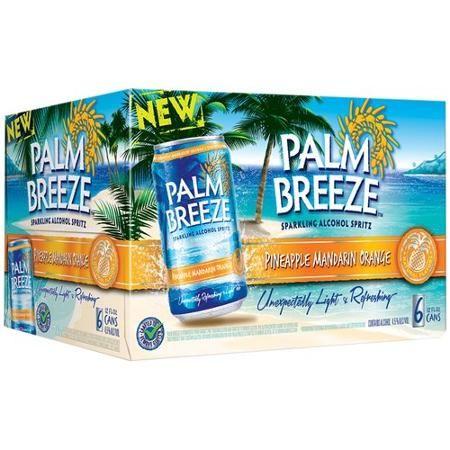 Palm Breeze Pineapple Mandarin Orange Sparkling Alcohol Spritz, 12 fl oz, 6 pack - Walmart.com