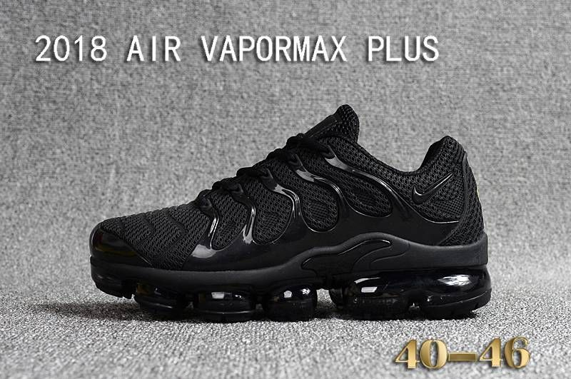 Hot New NIKE AIR VAPORMAX PLUS TN 2018 All Cool Black  1d970c14b
