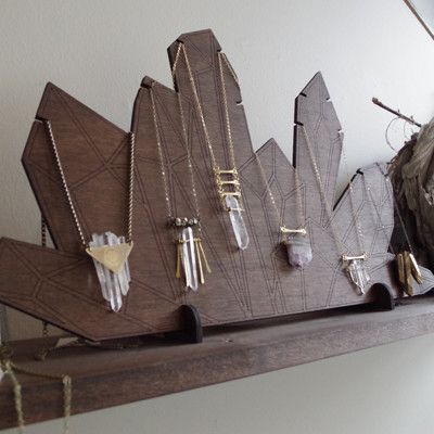 Crystal necklace display art shows pinterest for Jewelry displays