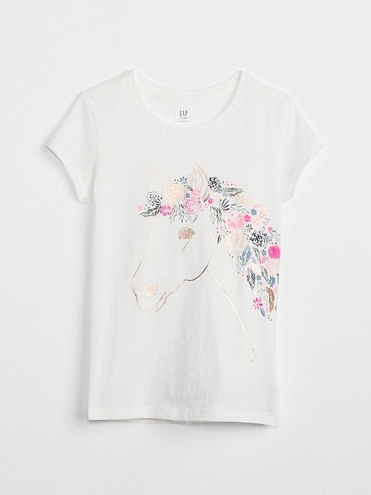 f2c89f094808ea Gap Girls Graphic Short Sleeve T-Shirt New Off White | Products in ...