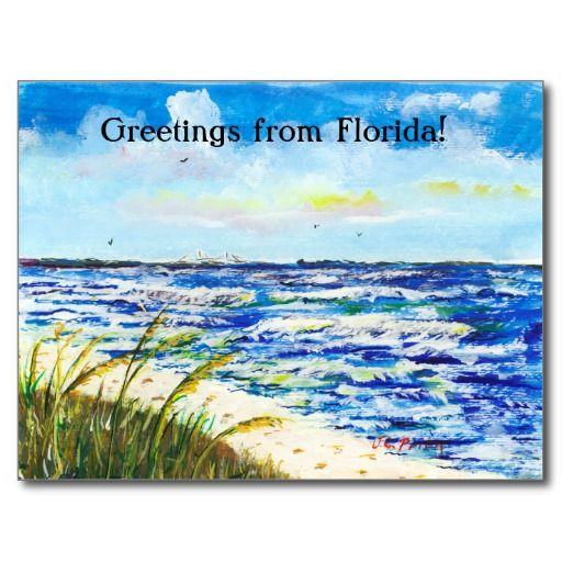 Tampa Bay Florida Beach Sunshine Skyway Bridge Post Cards With