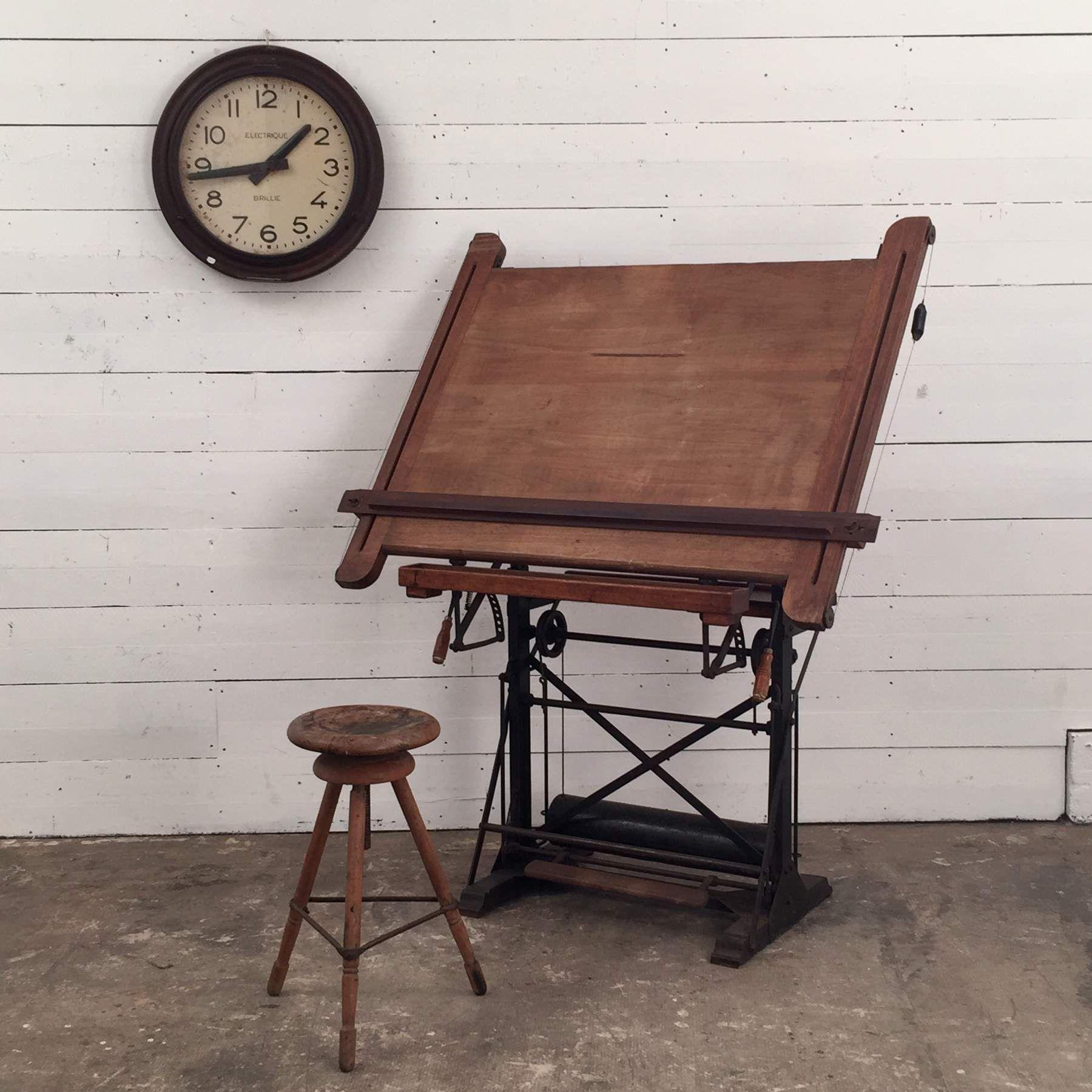 Table A Dessin Industriel table à dessin industrielle ancienne | table | pinterest