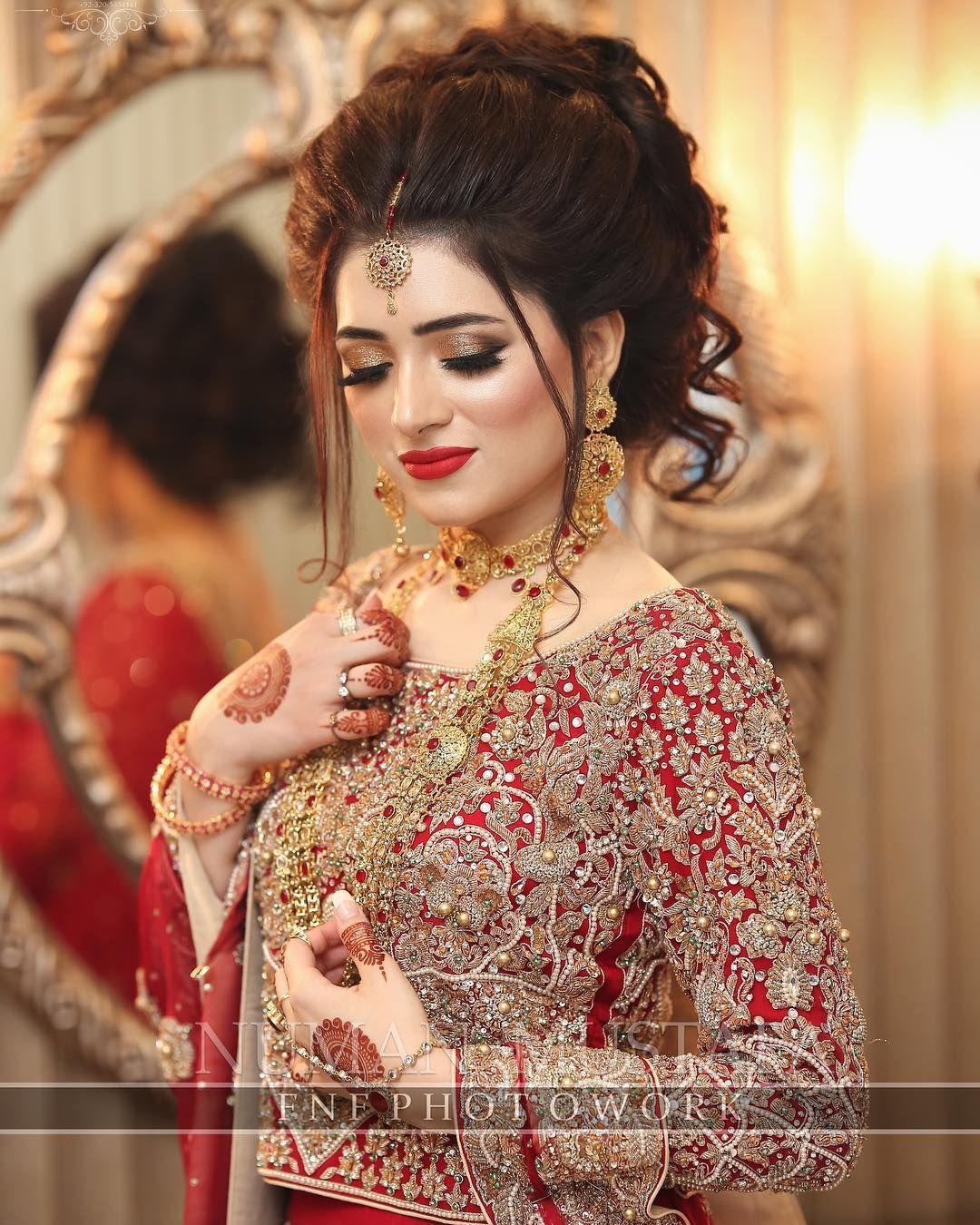Top Trending And Charming Airbrush Makeup Looks Pakistani Bridal Hairstyles Beautiful Bridal Makeup Bridal Hair Buns