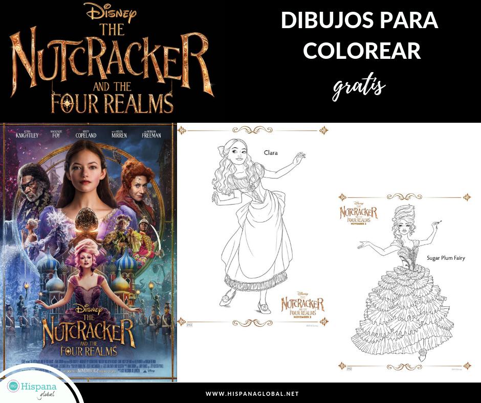 Dibujos para colorear gratis de El Cascanueces y los Cuatro Reinos ...