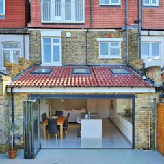 ​kitchen rear extension ealing with pitched roof modern kitchen by homify modern | homify