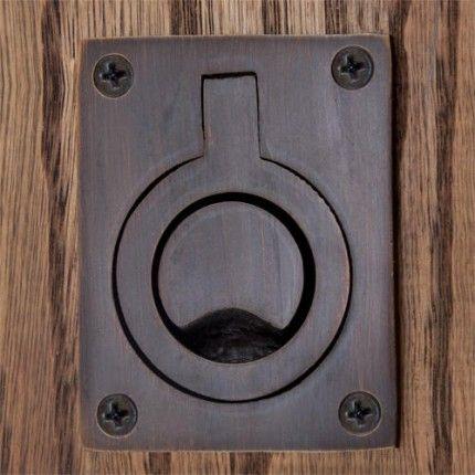Rectangular Recessed Pull With Flush Ring Pocket Door Pulls 10 95