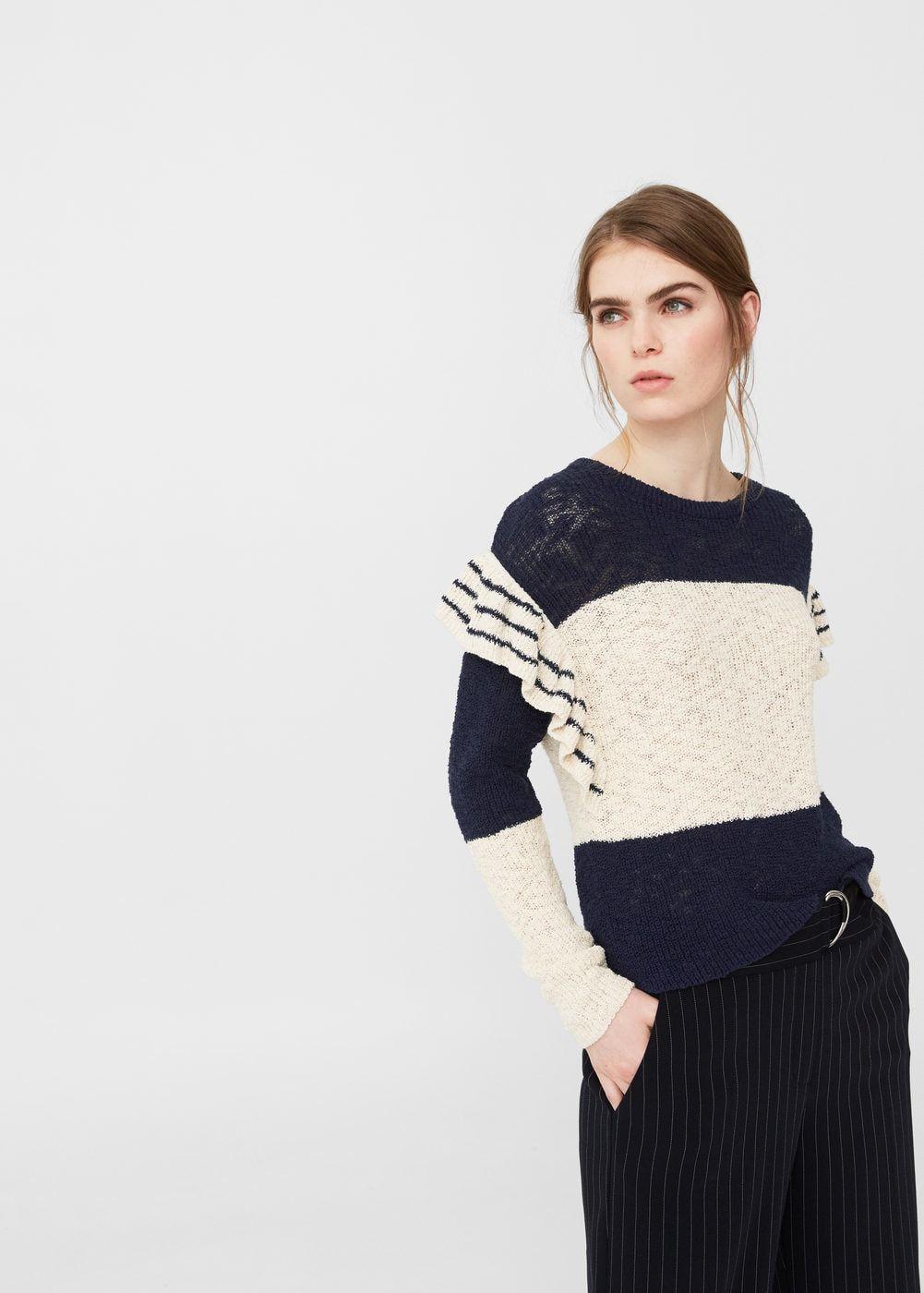 Jersey algodón volantes - Mujer | sweter! | Pinterest | Volantes ...