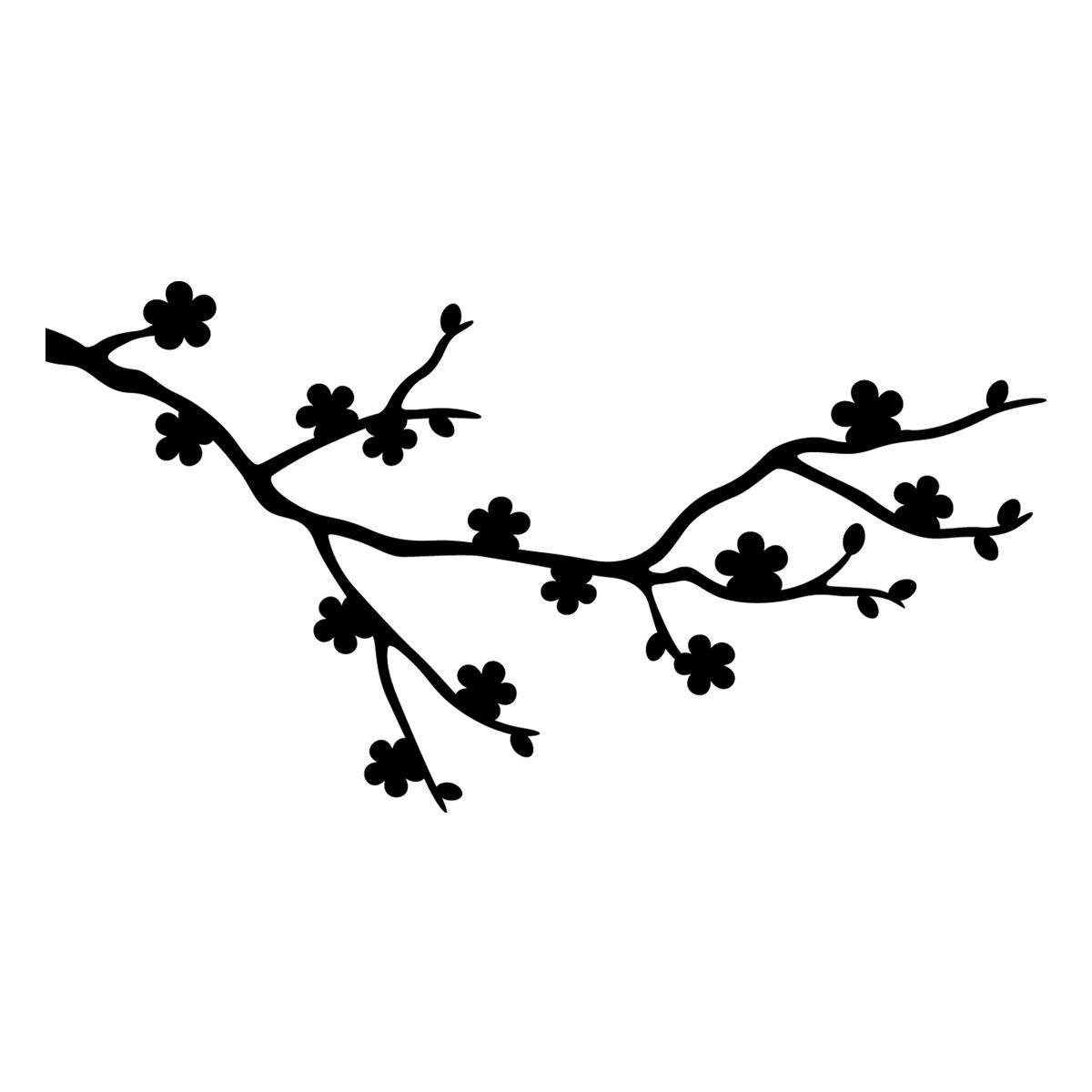 Cherry Blossom Tree Black And White: Cherry Blossom Coloring Pages - Coloring