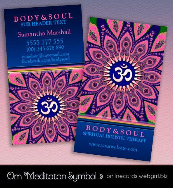 Om sign pink mandala yoga newage business cards business cards om sign pink mandala yoga newage business cards designed by webgrrl onlinecards colourmoves