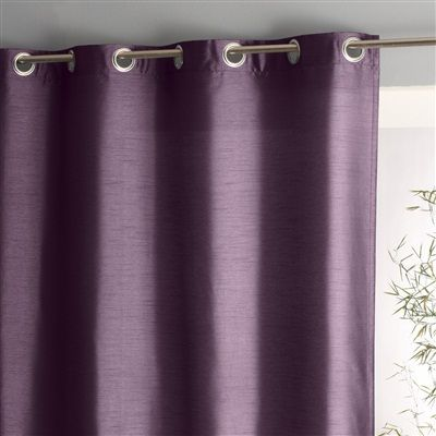 Silk Effect Curtain With Eyelets Pearl Grey Light Purple Lilac Mauve Living Room