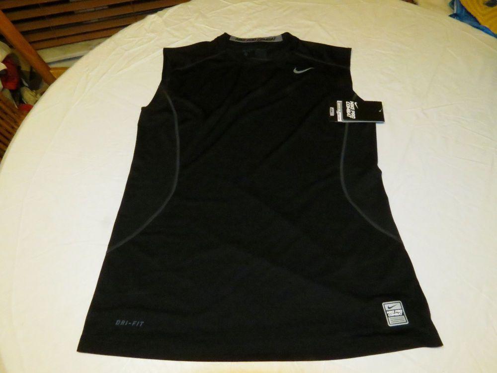 80925fb2faaad Nike DRI FIT PRO COMBAT fitted Training sleeveless shirt Men s 449786 M  medium  Nike  activecombatcompetitionshirt