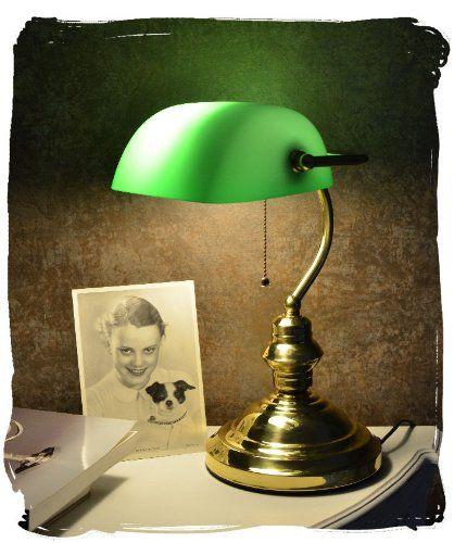 Bankers Lamp Schreibtischlampe Banker Lampe Banker Leuchte Pultleuchte Echter Klassiker Im Jugendstil Mit Grunem Glas Palaz Schreibtischlampe Lampe Jugendstil