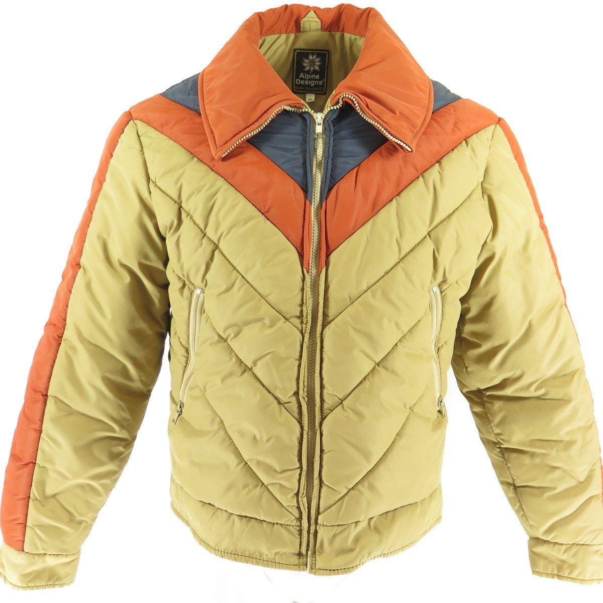77b3ca8be22 Vtg 80s Alpine Designs Puffy Puffer Ski Winter Jacket Mens Retro XL ...