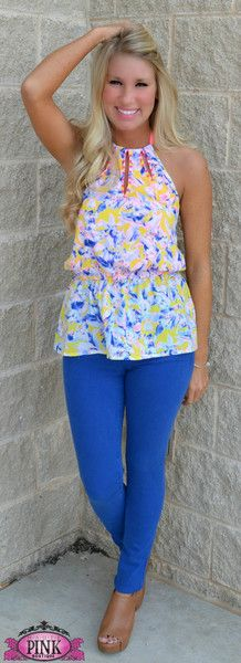 Picture of Flowers At Last Halter Top