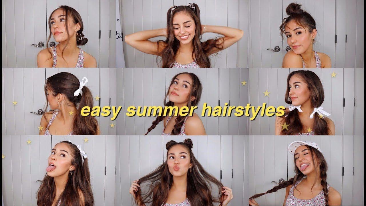 Easy Summer Hairstyles Youtube Easy Summer Hairstyles Summer Hairstyles Easy Hairstyles