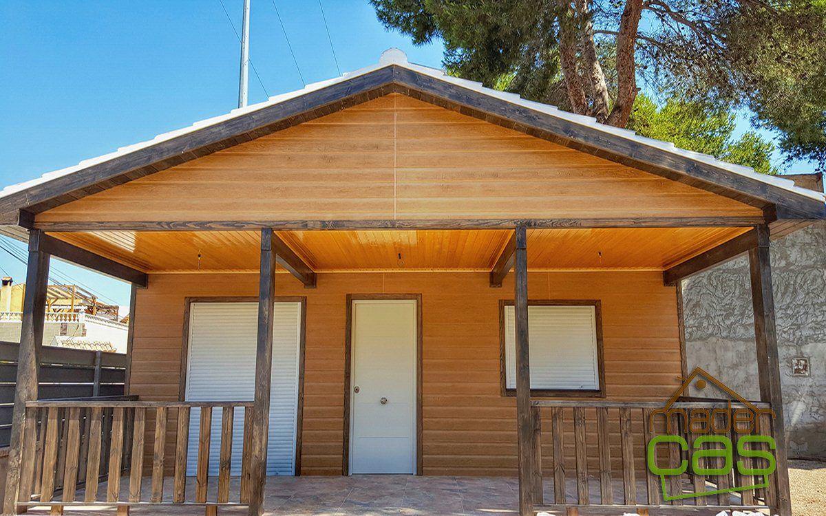 Esta casa de madera de canexel 79 m2 tiene una terminación y ...