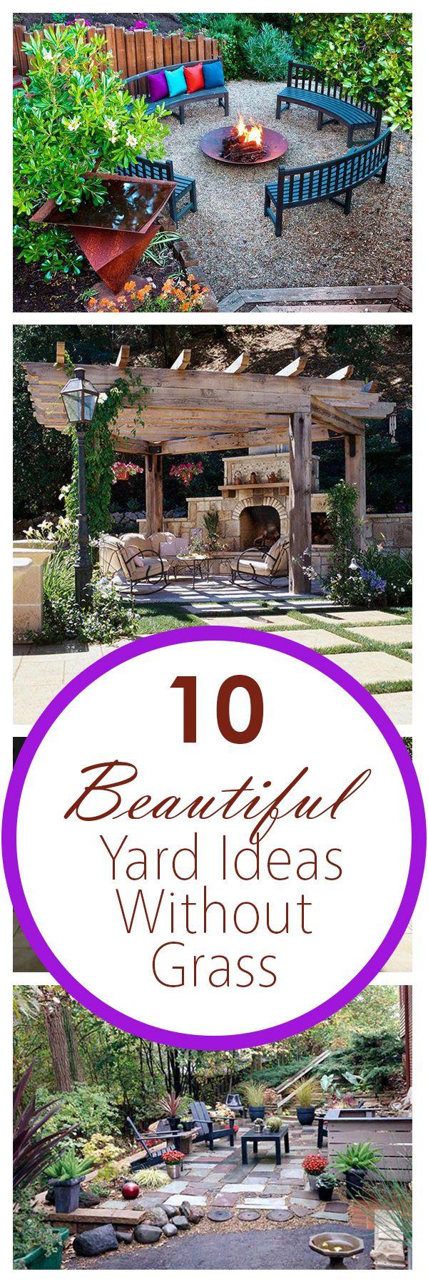 10 Beautiful Yard Ideas Without Grass | Outdoor gardens ...